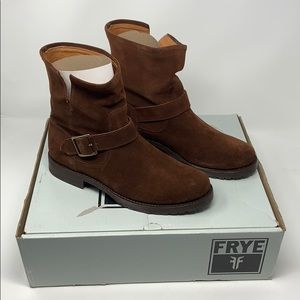NEW FRYE Natalie Short Engineer Brown Boots Size 8